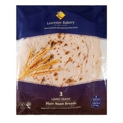 Leicester Bakery Hand Made Plain Naan Bread