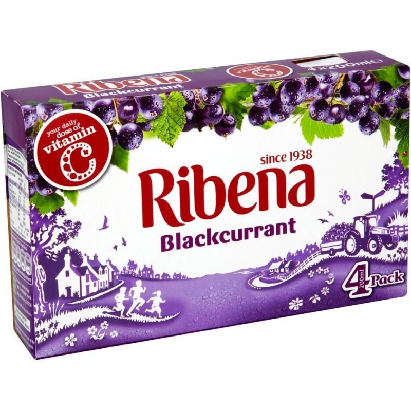 ribena blackcurrant (4x200ml)