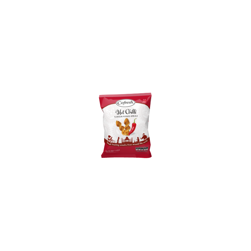 Cofresh Hot Chilli Potato Spirals 80g