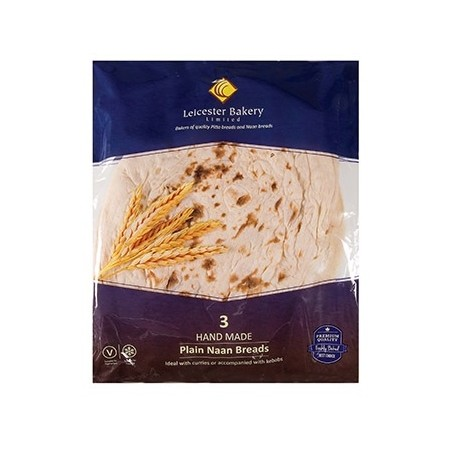 Leicester Bakery Large Plain Naan Bread 3pcs