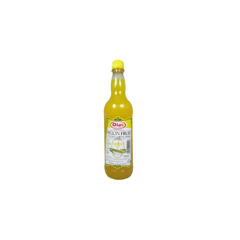 Dias Cordials Passion Fruit Syrup 750ml