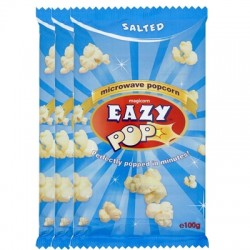 Eazy pop Salted popcorn 3pack