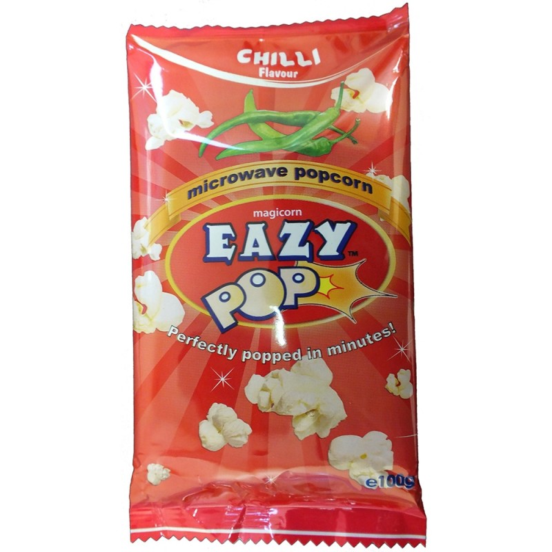 Eazy Pop Chilli Popcorn 100g