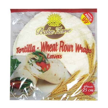 Bake Zone Wheat Flour Tortilla Wraps (6 Pack)