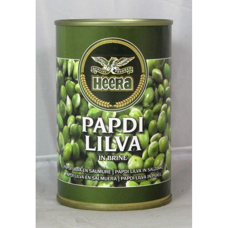 Heera Surti Papdi Lilva Indian Beans in Brine 400g
