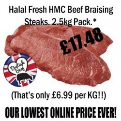 Beef Braising Steak, 2.5kg Pack HMC
