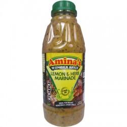 Aminas Wonder Spice Lemon and Herb Pour On Marinade (500ml)