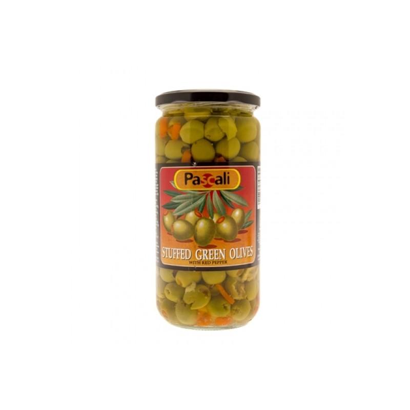 Pascali Olives Green Stuffed 665g