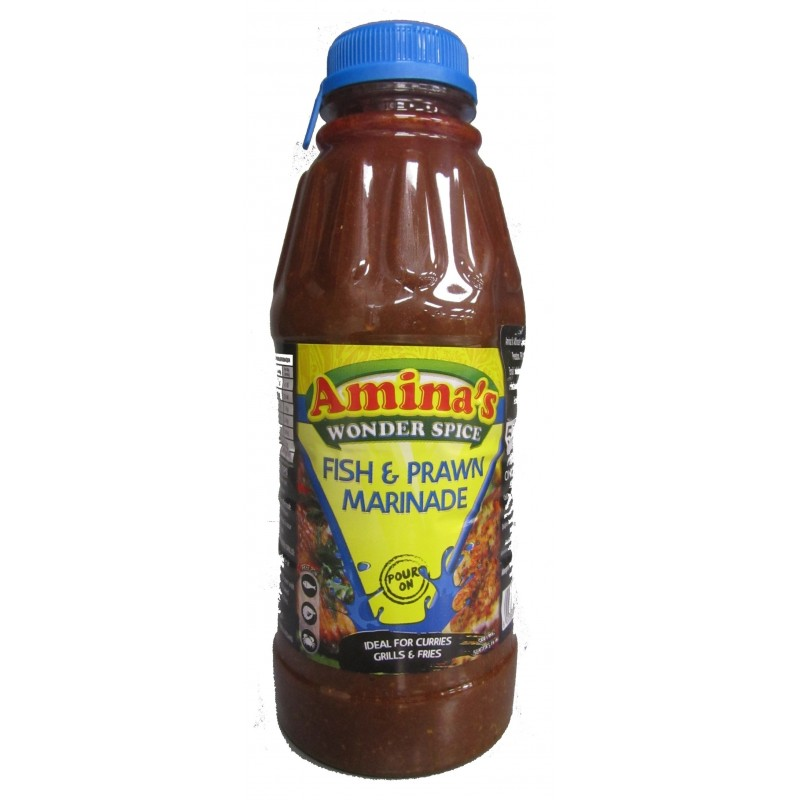 Aminas Wonder Spice Fish and Prawns Pour On 500ml
