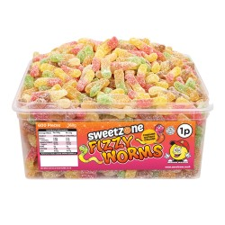 Sweetzone Fizzy Worms 600pc