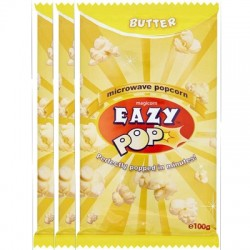 Eazy Pop Butter Popcorn 3pack